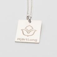 HjärtLung smycke, rektangel